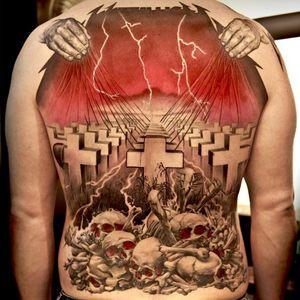 #masterofpuppets #metallica #graveyard #metal #backpiece