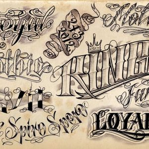 #tattoolettering #reference #script #letteringguide