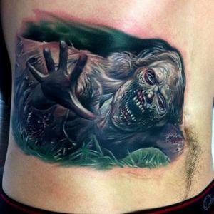 #zombie #horror #backpiece #scary