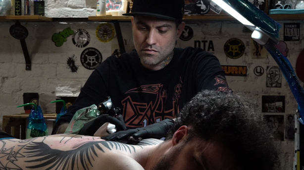 SESSIONS: Punks Not Dead! Multiple Session Back-piece by Rodrigo Canteras at Five Points Tattoo in NYC