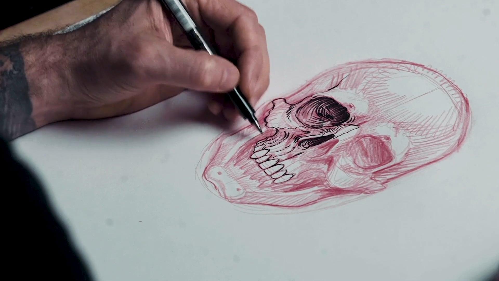 Chris Garver: Front-Facing Skulls