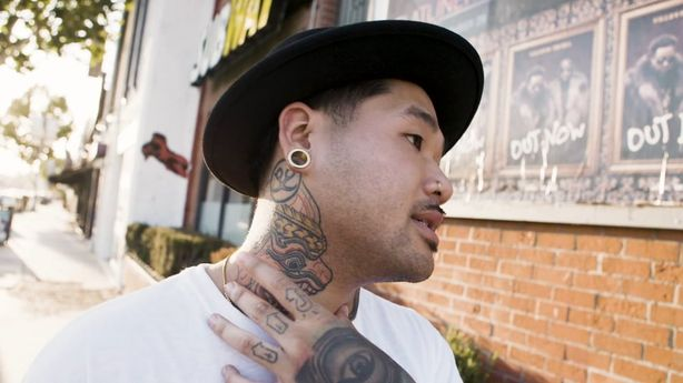 """LOS ANGELES Inkounters - """" 'SWIM GOOD' ON MY KNUCKLES, BECAUSE I CAN'T SWIM"""""""